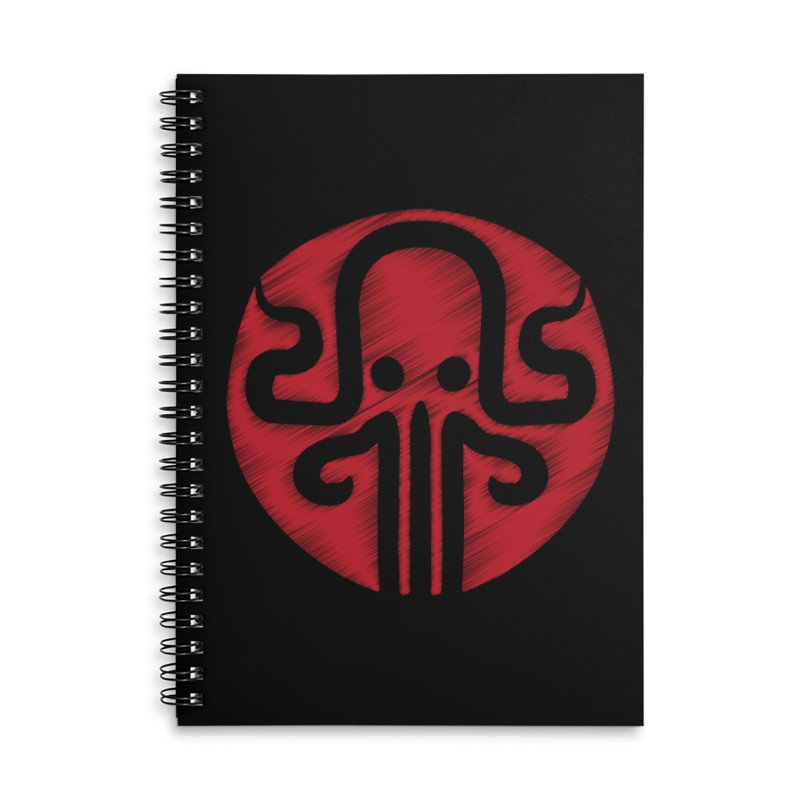 red kraken Accessories Lined Spiral Notebook by manuvila