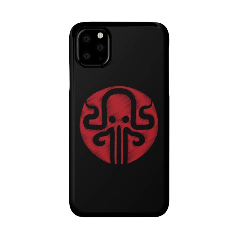 red kraken Accessories Phone Case by manuvila