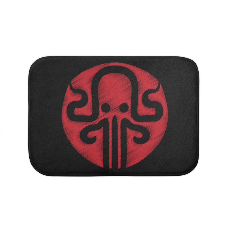 red kraken Home Bath Mat by manuvila