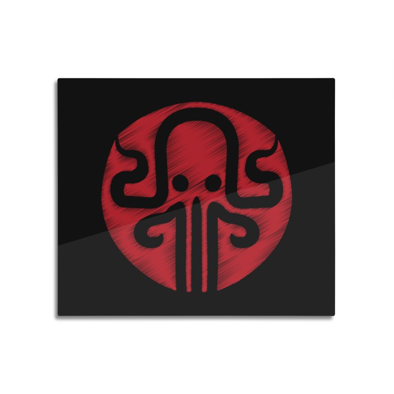 red kraken Home Mounted Acrylic Print by manuvila