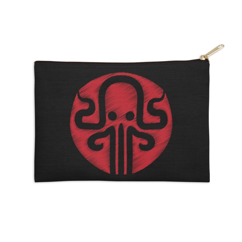 red kraken Accessories Zip Pouch by manuvila