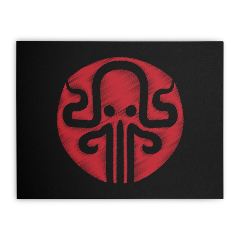 red kraken Home Stretched Canvas by manuvila