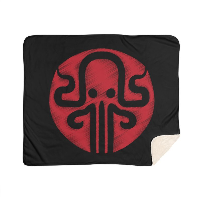 red kraken Home Sherpa Blanket Blanket by manuvila