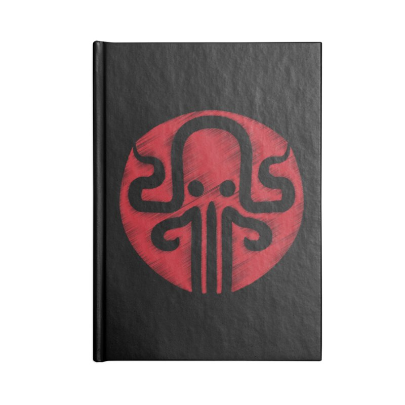 red kraken Accessories Lined Journal Notebook by manuvila