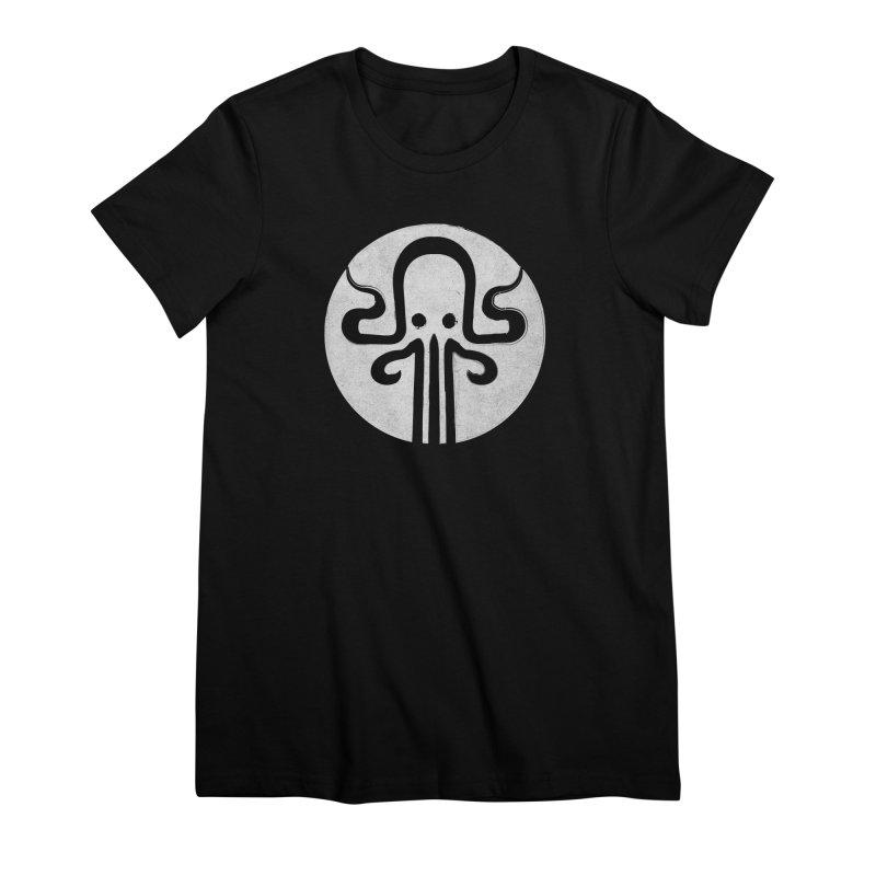 octopus gray logo Women's Premium T-Shirt by manuvila