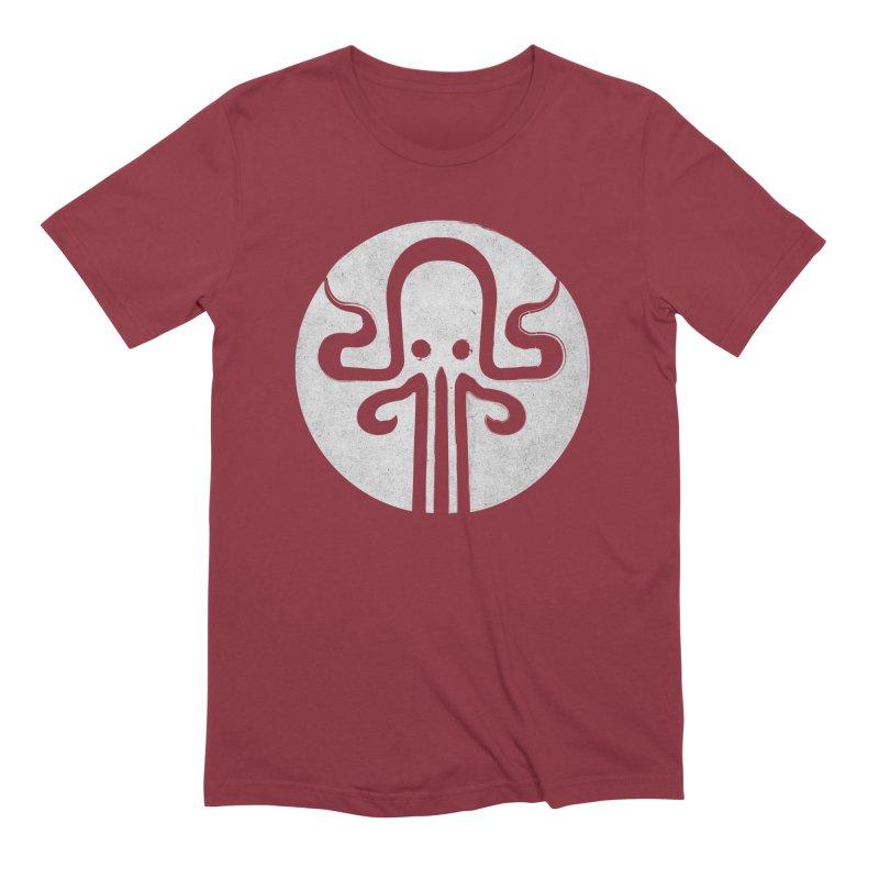 octopus gray logo Men's Extra Soft T-Shirt by manuvila
