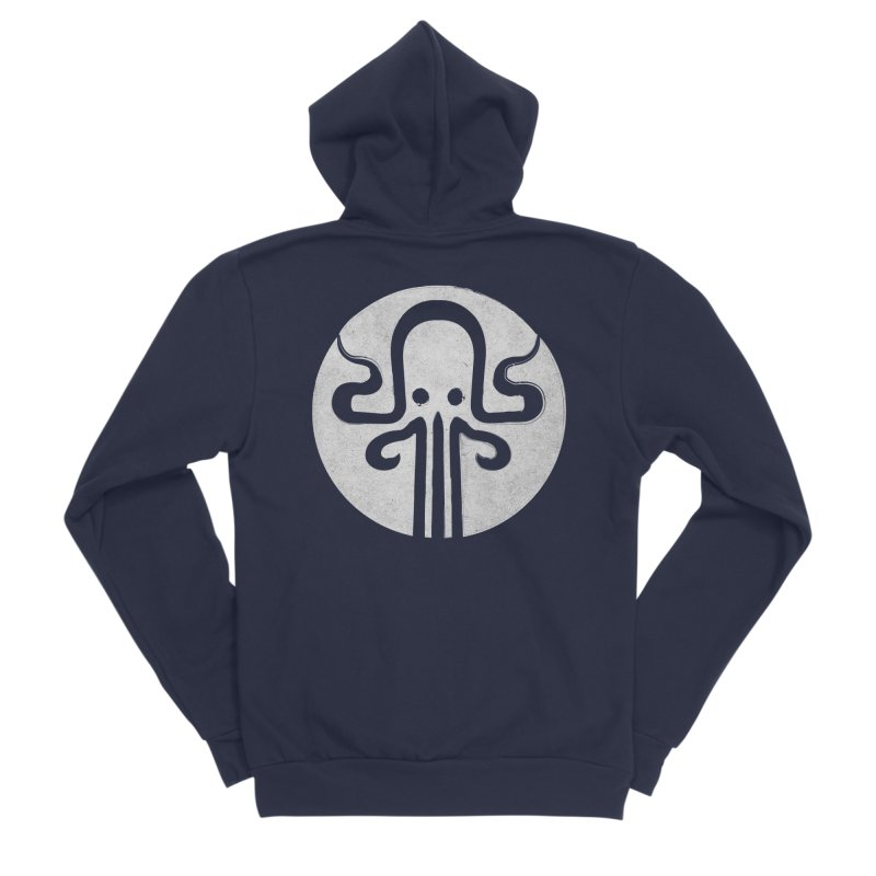octopus gray logo Women's Sponge Fleece Zip-Up Hoody by manuvila