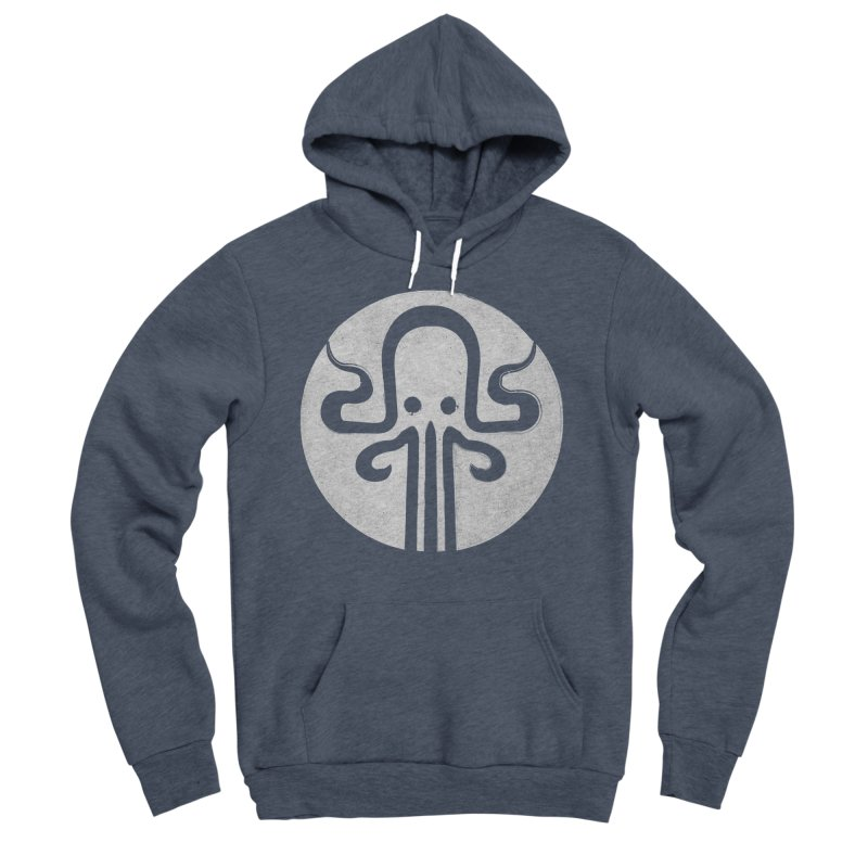 octopus gray logo Women's Sponge Fleece Pullover Hoody by manuvila