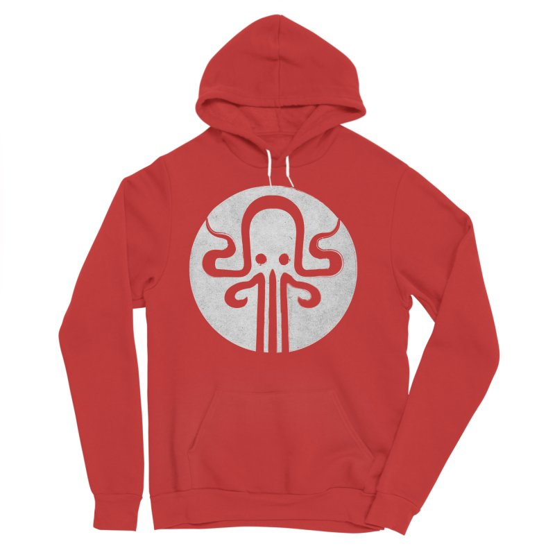 octopus gray logo Men's Sponge Fleece Pullover Hoody by manuvila