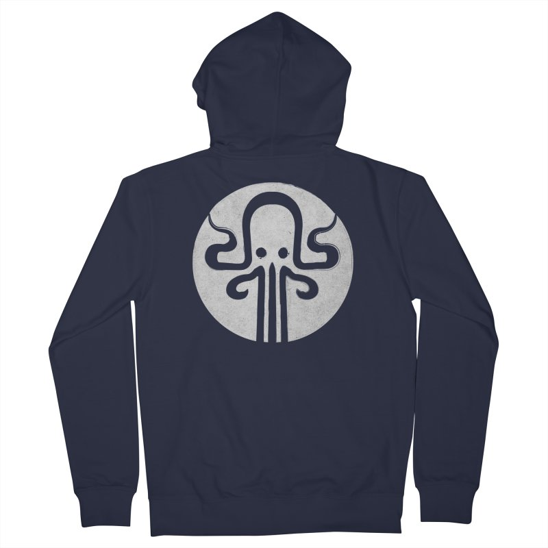 octopus gray logo Women's Zip-Up Hoody by manuvila