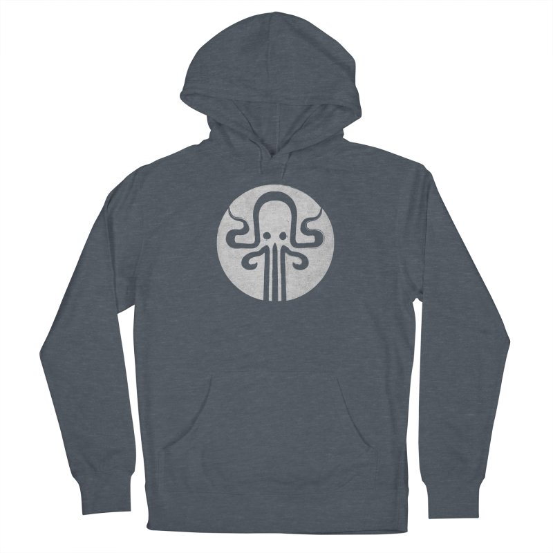octopus gray logo Women's French Terry Pullover Hoody by manuvila