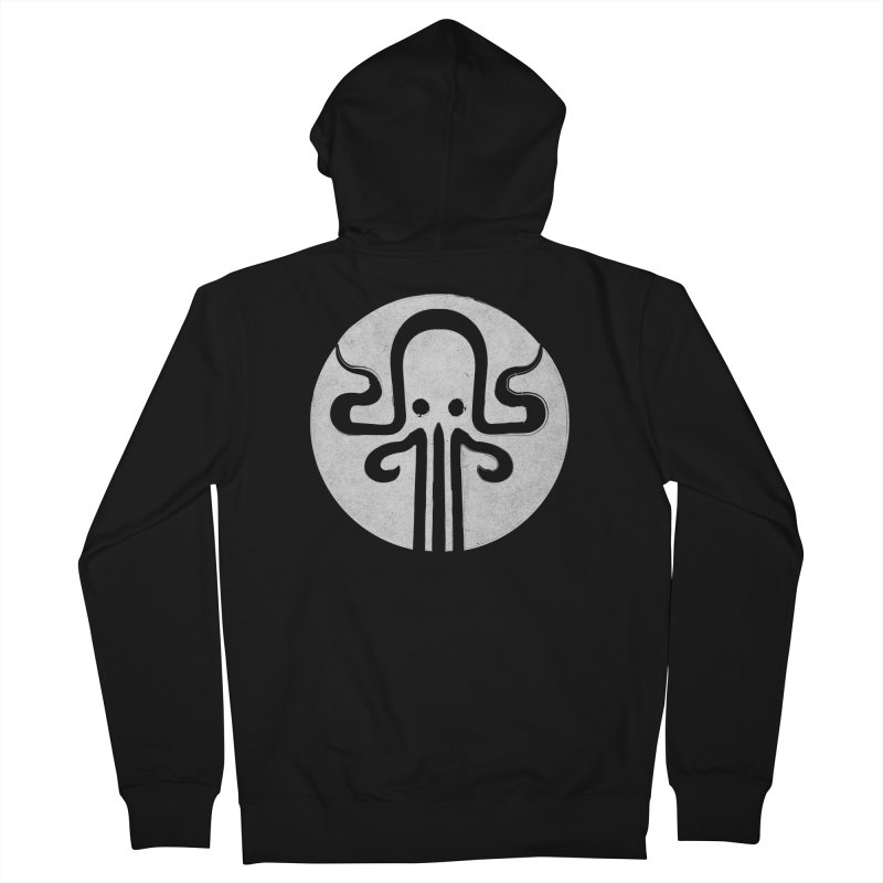 octopus gray logo Women's French Terry Zip-Up Hoody by manuvila