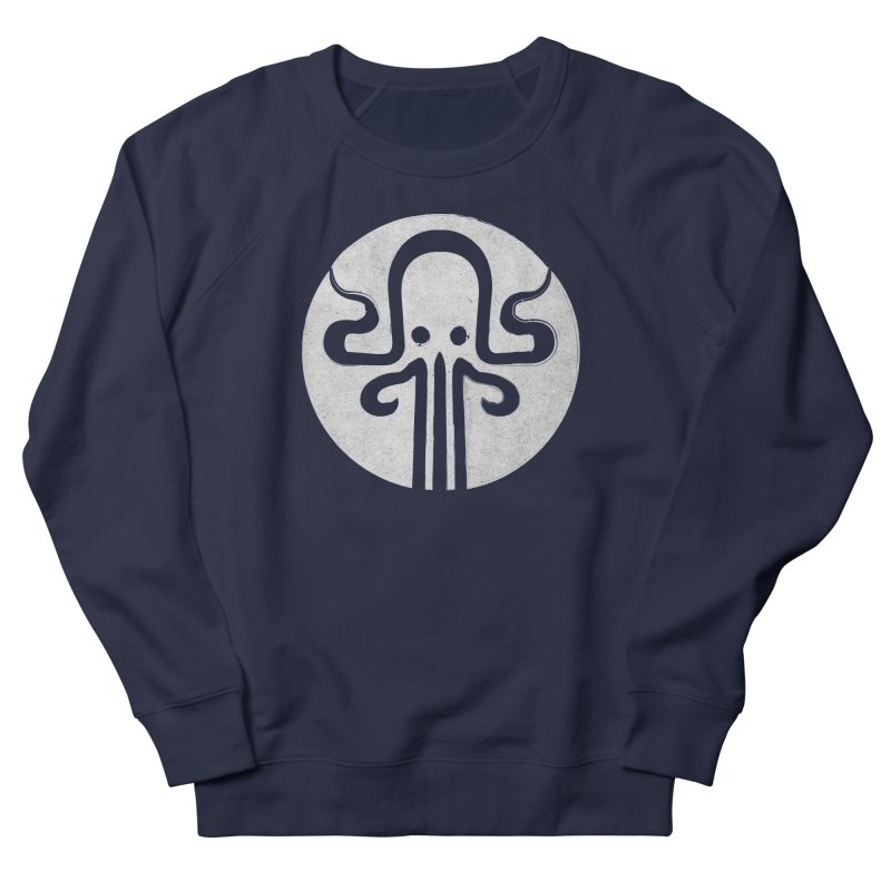 octopus gray logo Women's French Terry Sweatshirt by manuvila