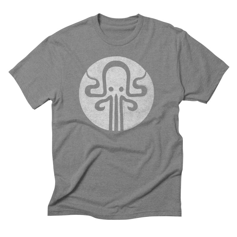 octopus gray logo Men's Triblend T-Shirt by manuvila