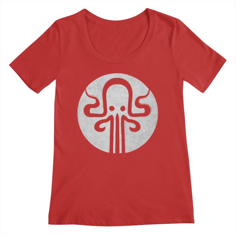 octopus gray logo Women's Regular Scoop Neck by manuvila