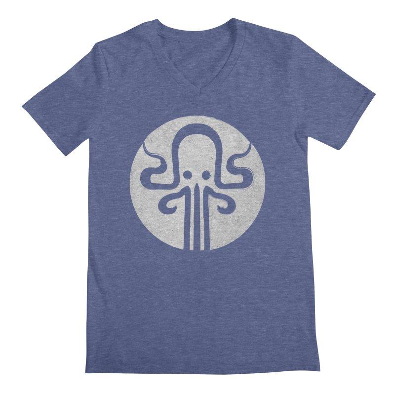 octopus gray logo Men's Regular V-Neck by manuvila
