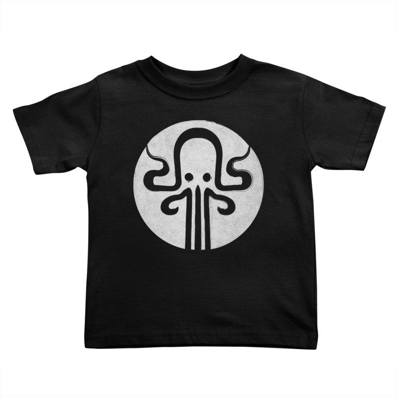 octopus gray logo Kids Toddler T-Shirt by manuvila