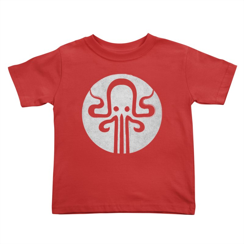 octopus gray logo Kids Toddler T-Shirt by manuvila