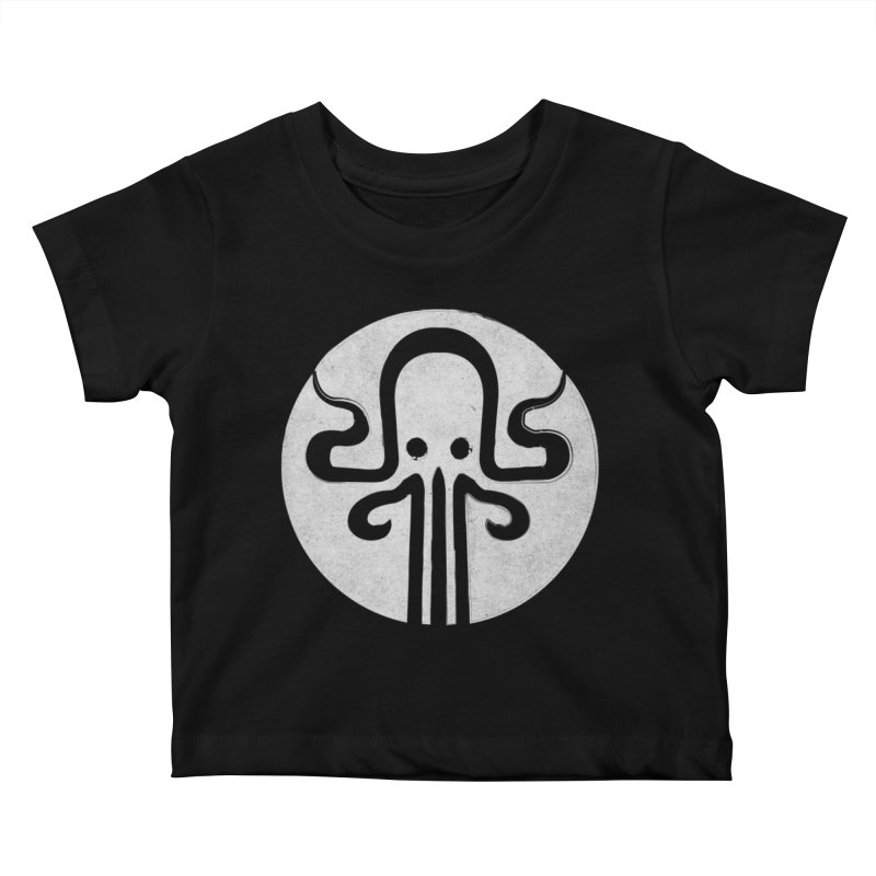 octopus gray logo Kids Baby T-Shirt by manuvila
