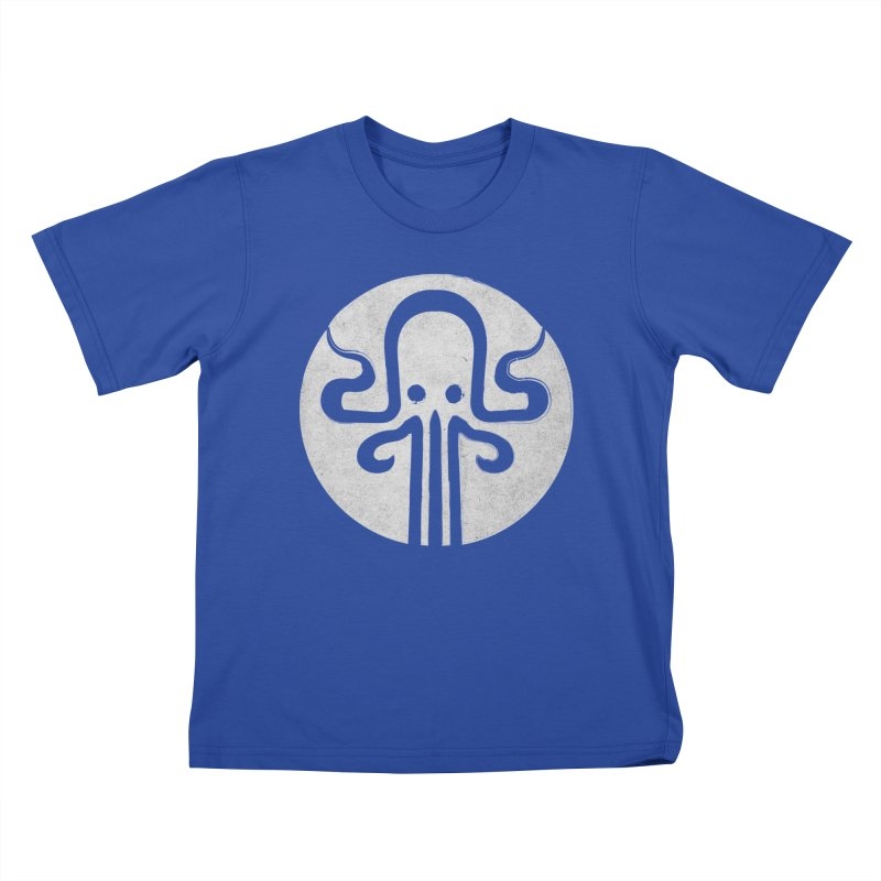 octopus gray logo Kids T-Shirt by manuvila