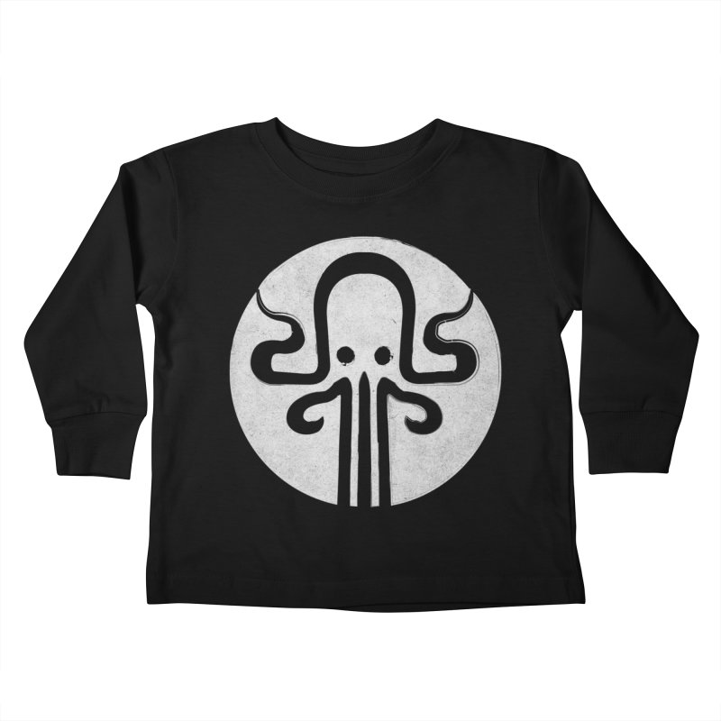 octopus gray logo Kids Toddler Longsleeve T-Shirt by manuvila