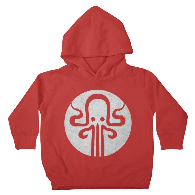 octopus gray logo Kids Toddler Pullover Hoody by manuvila