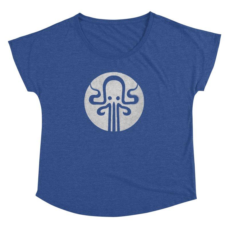octopus gray logo Women's Dolman Scoop Neck by manuvila
