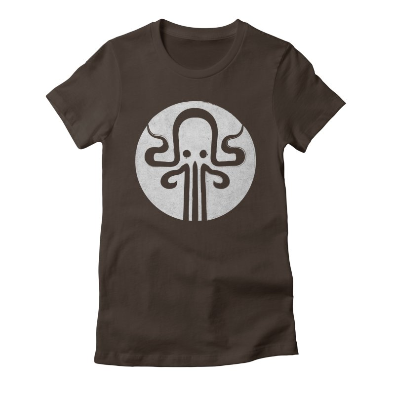 octopus gray logo Women's Fitted T-Shirt by manuvila