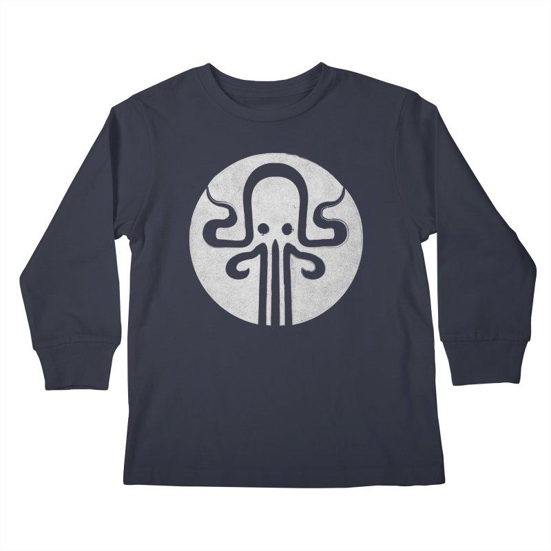 octopus gray logo Kids Longsleeve T-Shirt by manuvila