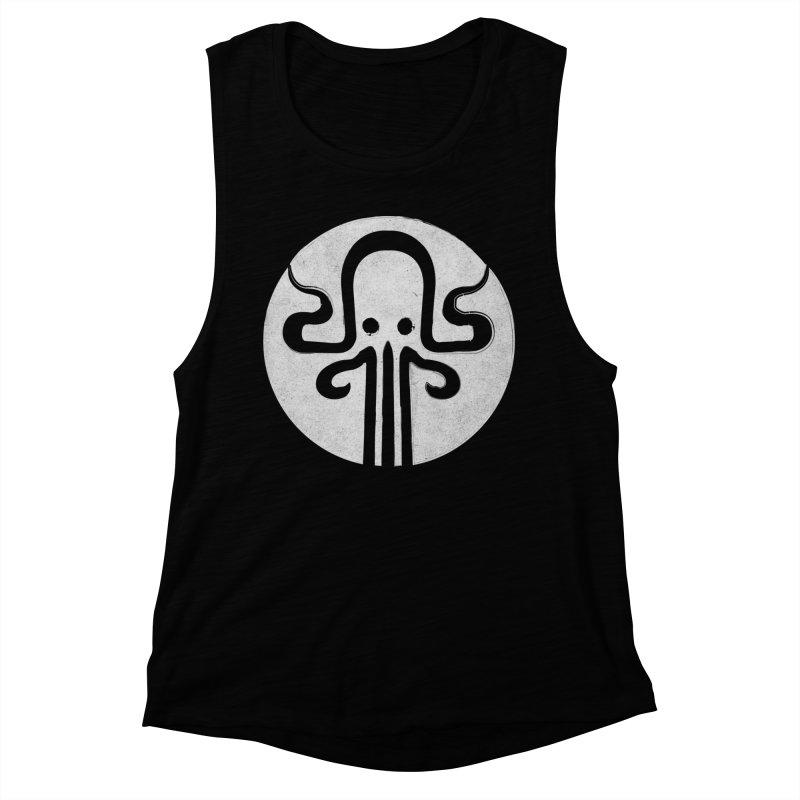 octopus gray logo Women's Muscle Tank by manuvila