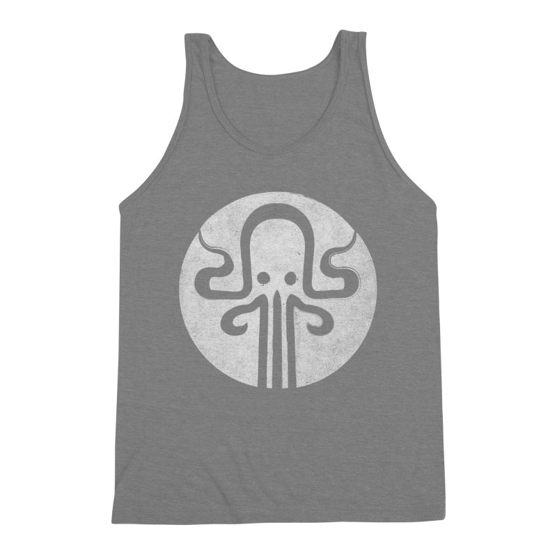 octopus gray logo Men's Triblend Tank by manuvila