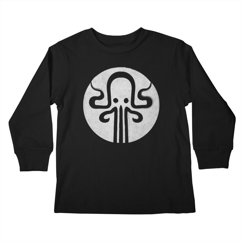octopus gray logo Kids Longsleeve T-Shirt by manuvila