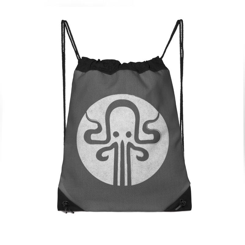 octopus gray logo Accessories Drawstring Bag Bag by manuvila