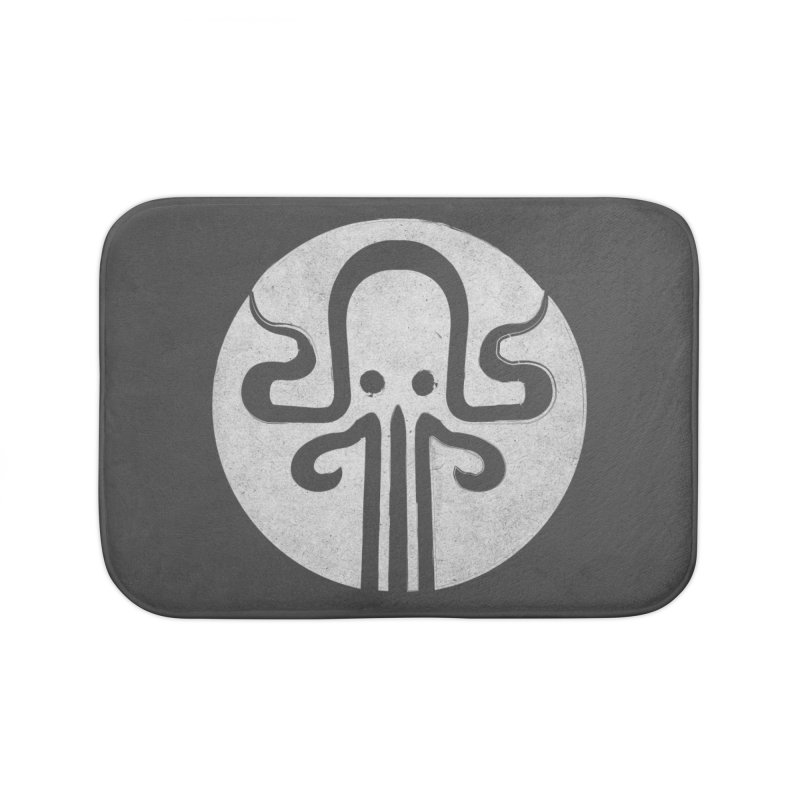 octopus gray logo Home Bath Mat by manuvila