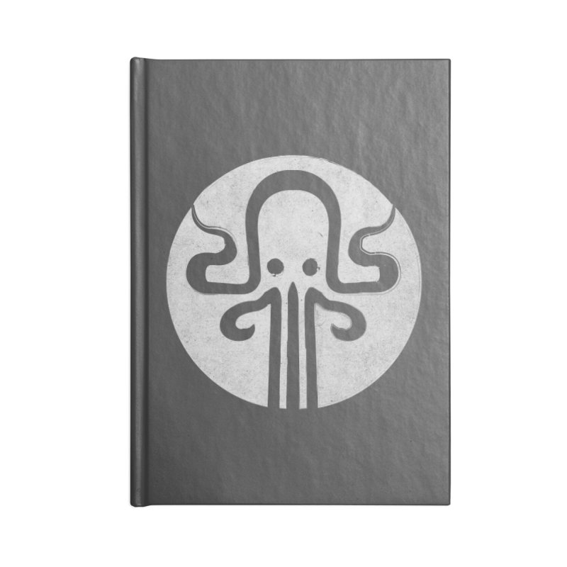 octopus gray logo Accessories Blank Journal Notebook by manuvila