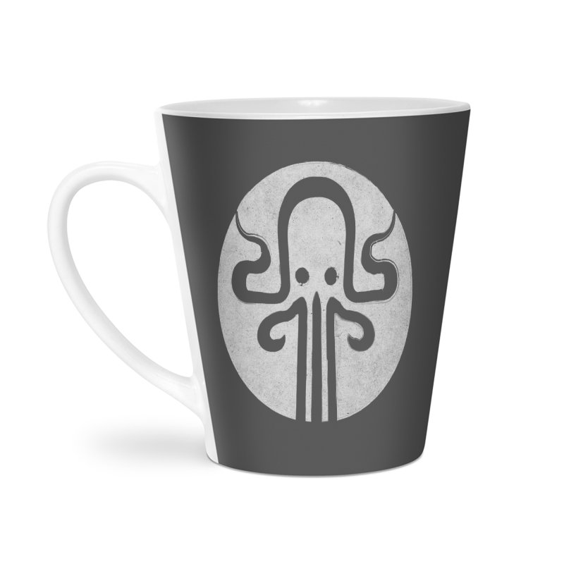 octopus gray logo Accessories Latte Mug by manuvila