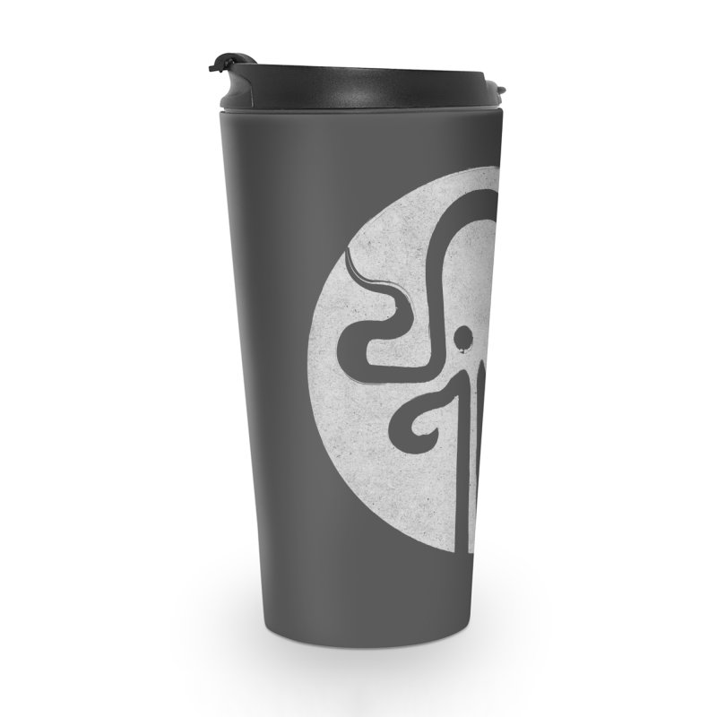 octopus gray logo Accessories Travel Mug by manuvila