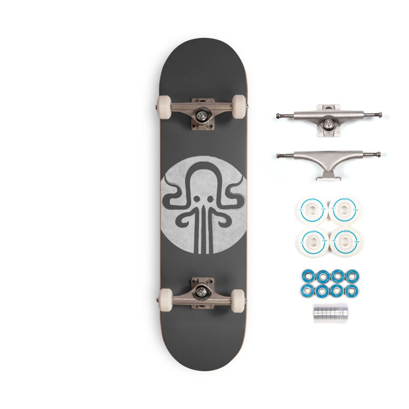 octopus gray logo Accessories Complete - Basic Skateboard by manuvila