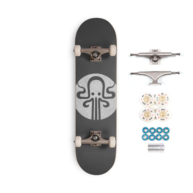 octopus gray logo Accessories Complete - Premium Skateboard by manuvila