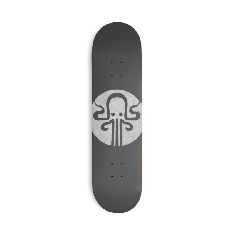 octopus gray logo Accessories Deck Only Skateboard by manuvila