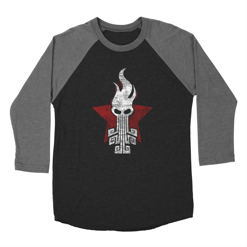 octopus w Women's Baseball Triblend Longsleeve T-Shirt by manuvila