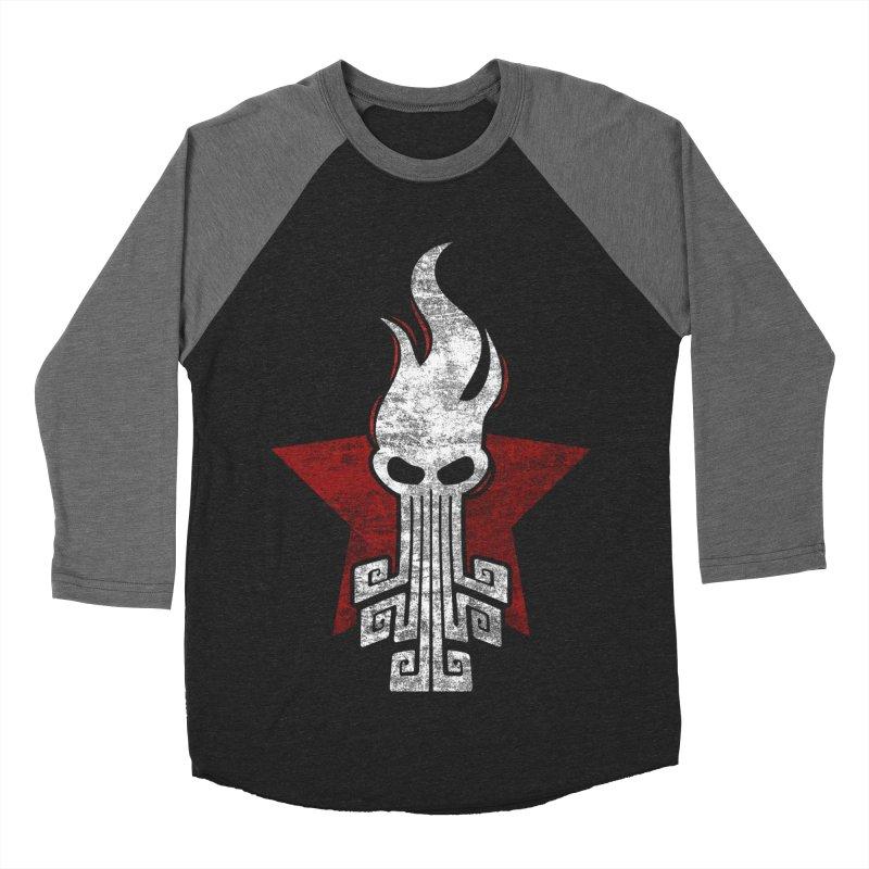 octopus w Men's Baseball Triblend Longsleeve T-Shirt by manuvila