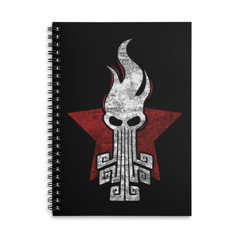 octopus w Accessories Lined Spiral Notebook by manuvila