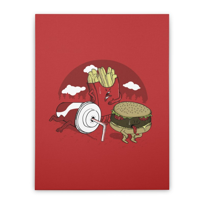Not so fast food Home Stretched Canvas by maortoubian's Artist Shop