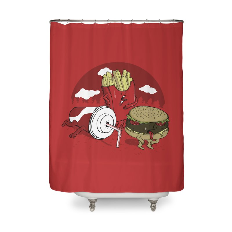Not so fast food Home Shower Curtain by maortoubian's Artist Shop