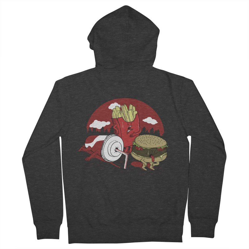 Not so fast food Women's Zip-Up Hoody by maortoubian's Artist Shop