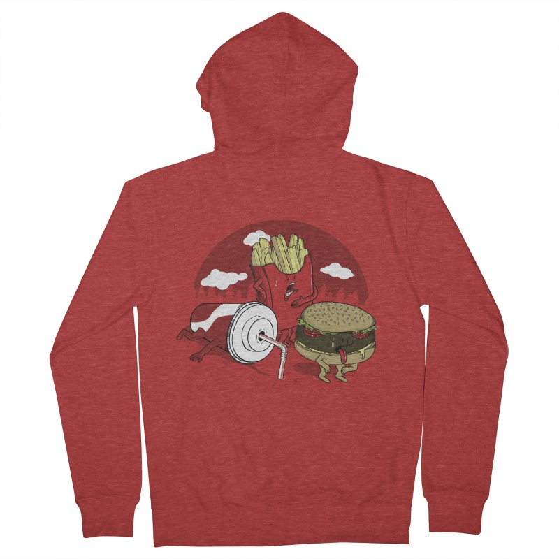 Not so fast food Men's Zip-Up Hoody by maortoubian's Artist Shop