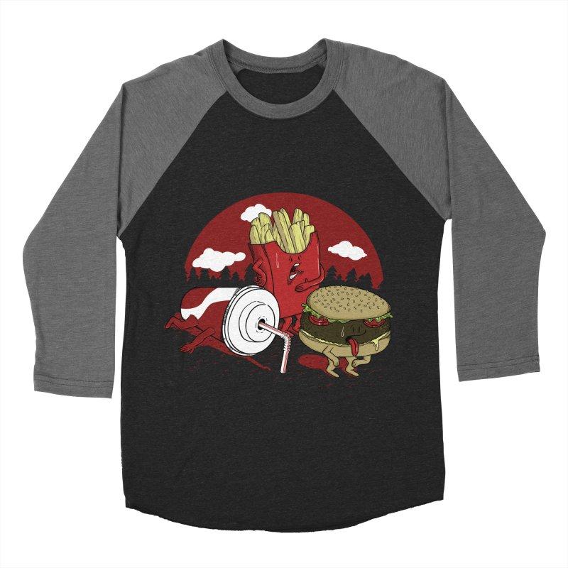 Not so fast food Women's Baseball Triblend T-Shirt by maortoubian's Artist Shop