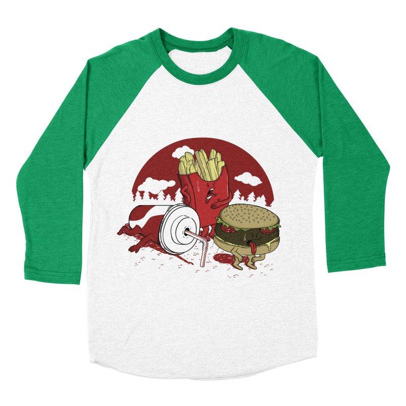 Not so fast food Men's Baseball Triblend T-Shirt by maortoubian's Artist Shop