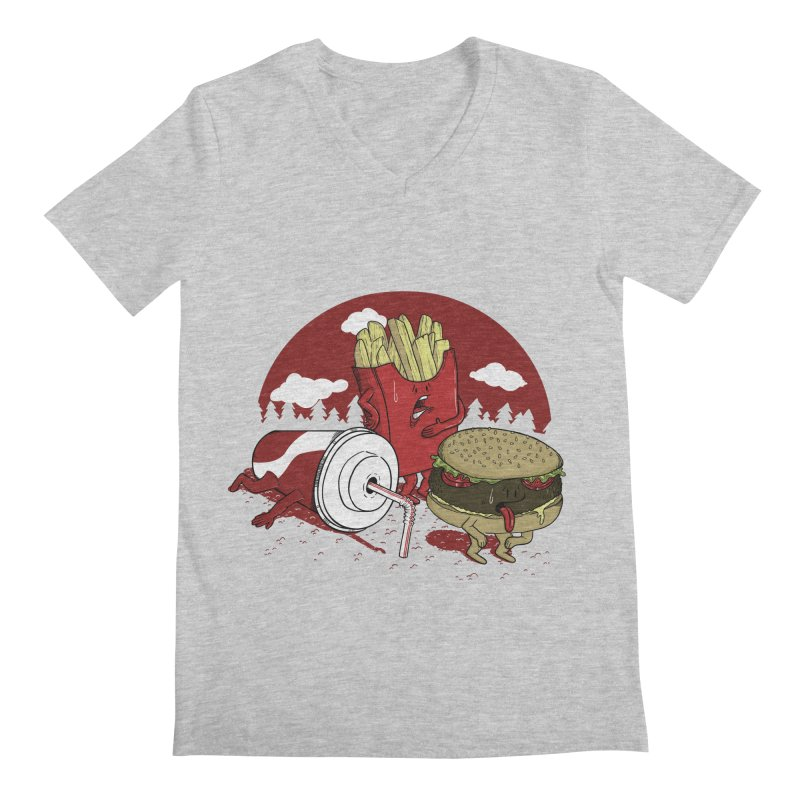 Not so fast food Men's V-Neck by maortoubian's Artist Shop